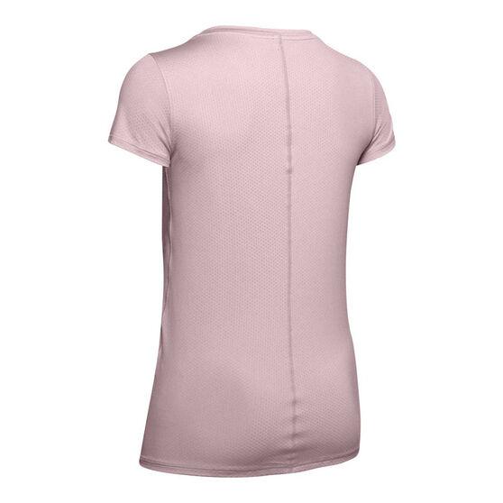 Under Armour Womens HeatGear Tee, Pink, rebel_hi-res
