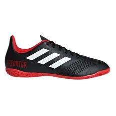 adidas Predator Tango 18.4 Junior Indoor Soccer Shoes Black / White US 11, Black / White, rebel_hi-res