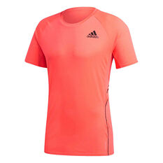adidas Mens Runner Tee Pink S, Pink, rebel_hi-res