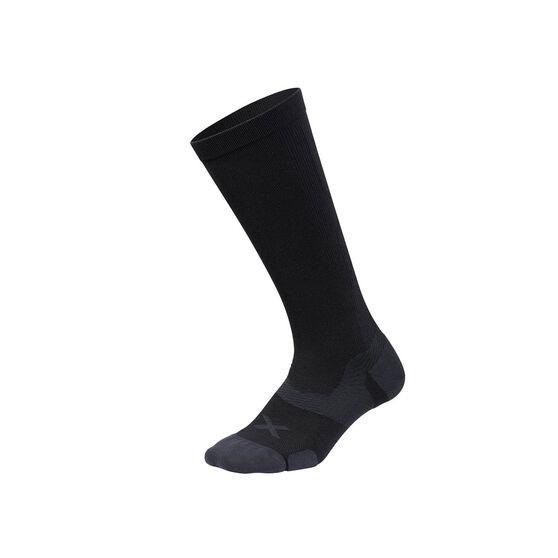 2XU Vectr Cushion Knee Length Socks, Black, rebel_hi-res