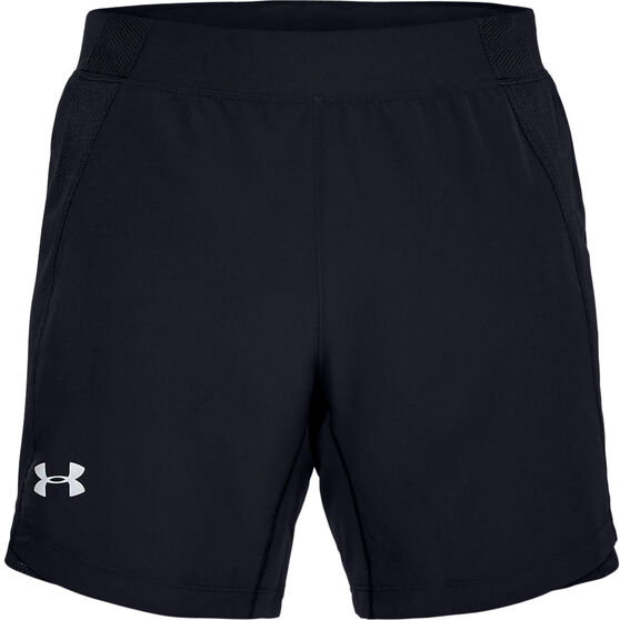 Under Armour Mens Qualifier Speedpocket 7in Running Shorts, Blue, rebel_hi-res