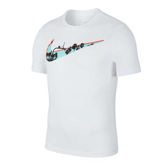 Nike Mens Dri-FIT Basketball Tee, White, rebel_hi-res