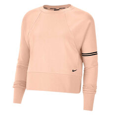Nike Womens Dri-FIT Get Fit Sweatshirt Orange XS, Orange, rebel_hi-res