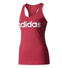 adidas Womens Essentials Linear Slim Tank Berry XS Adult, Berry, rebel_hi-res