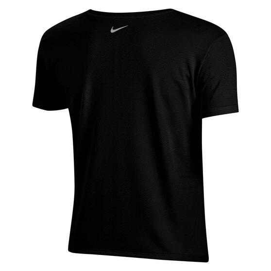 Nike Womens Running Tee, Black, rebel_hi-res