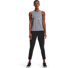 Under Armour Womens Sportstyle Graphic Muscle Tank, Grey, rebel_hi-res