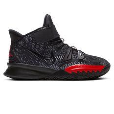 Nike Kyrie 7 Kids Basketball Shoes Black US 1, Black, rebel_hi-res