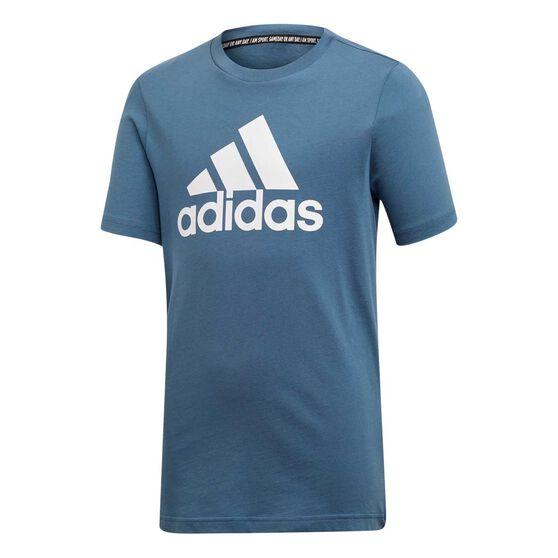 adidas Boys Tee, Blue / White, rebel_hi-res