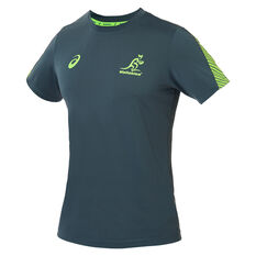 Wallabies 2019 Mens Rugby World Cup Training Tee Green S, Green, rebel_hi-res