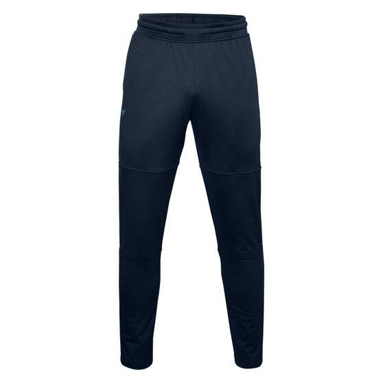 Under Armour Mens Project Rock Knit Track Pants, Navy, rebel_hi-res