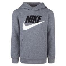 Nike Boys NSW HBR Club Hoodie Grey 6, Grey, rebel_hi-res