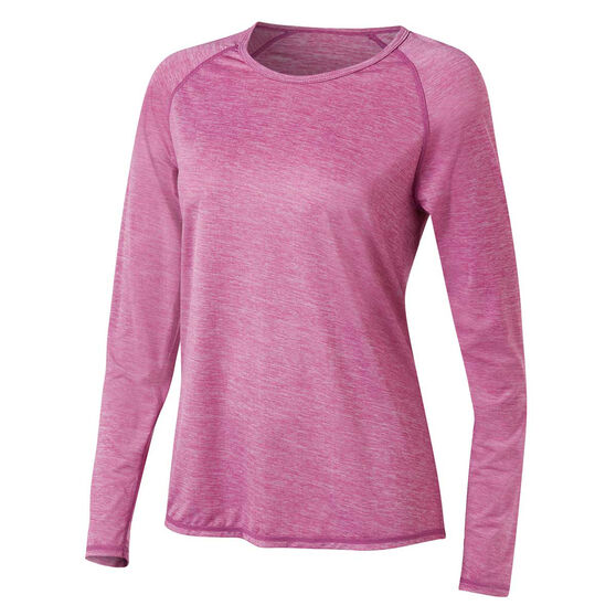Ell & Voo Womens Emma Long Sleeve Tee, Pink, rebel_hi-res