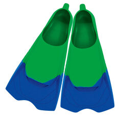 Zoggs Ultra Silicone Fins Green US 7 - 8, , rebel_hi-res
