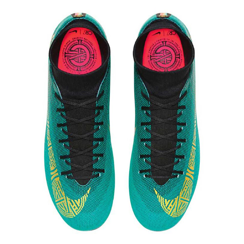 9cffe4b667c2 Nike Superfly 6 Academy CR7 MG Mens Football Boots Green   Gold US 7 Adult