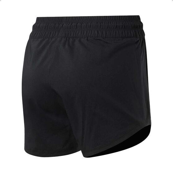 Reebok Womens Workout Ready Woven Shorts, Black, rebel_hi-res