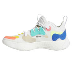adidas Harden Vol. 5 Kids Basketball Shoes White US 4, White, rebel_hi-res