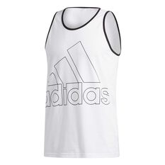 adidas Mens Must Haves Badge of Sport Tank White S, White, rebel_hi-res