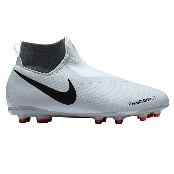 Nike Phantom Vision Academy Junior Football Boots, Grey / Black, rebel_hi-res