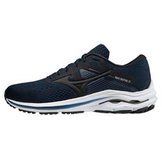 Mizuno Wave Inspire 17 Mens Running Shoes Black/Blue US 8, Black/Blue, rebel_hi-res