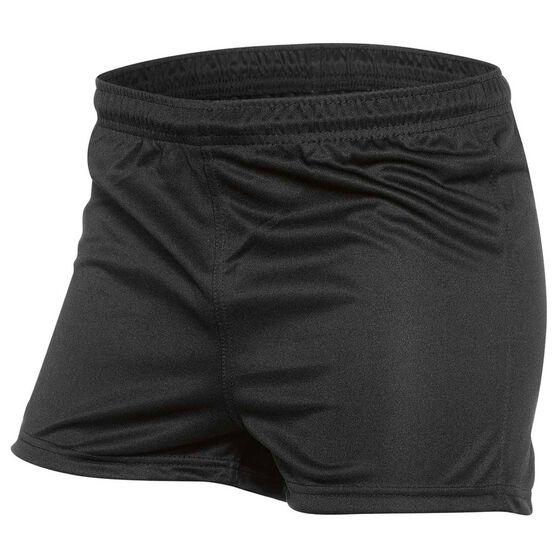 Burley Mens Football Shorts, Black, rebel_hi-res