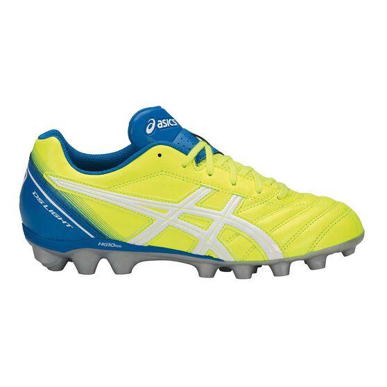 Asics DS Light JR Kids Football Boots Yellow / White US 4, Yellow / White, rebel_hi-res