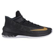 Nike Air Max Infuriate 2 Mens Basketball Shoes Black / Gold US 7, Black / Gold, rebel_hi-res