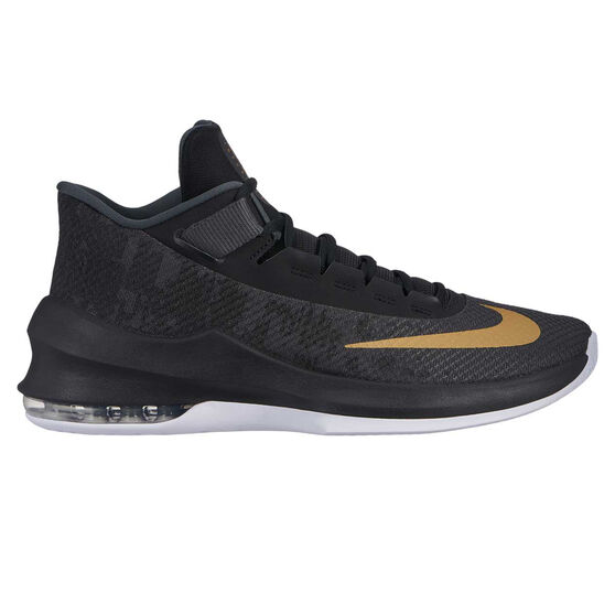 Nike Air Max Infuriate 2 Mens Basketball Shoes, Black / Gold, rebel_hi-res
