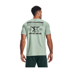 Under Armour Mens Project Rock Wrecking Crew Tee, Green, rebel_hi-res