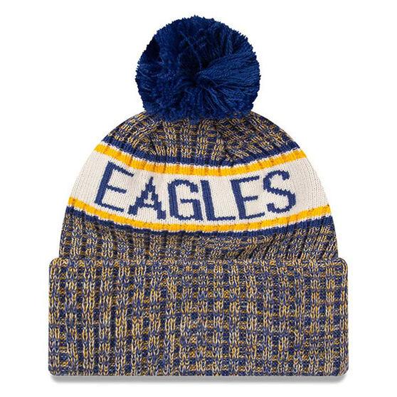 West Coast Eagles New Era Authentic Knit Beanie, , rebel_hi-res