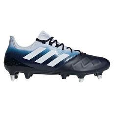 adidas Kakari Light SG Rugby Boots Grey / Blue US Mens 7 / Womens 8, Grey / Blue, rebel_hi-res