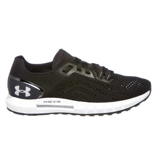 Under Armour HOVR Sonic 2 Womens Running Shoes, Black / White, rebel_hi-res