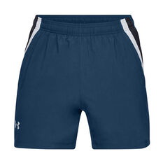 Under Armour Mens Launch SW 5in Running Shorts, Blue, rebel_hi-res