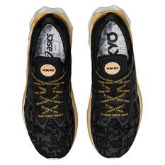 Asics Novablast EDO Era Womens Running Shoes, Black/Grey, rebel_hi-res