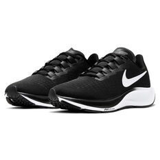 Nike Air Zoom Pegasus 37 Womens Running Shoes, Black/White, rebel_hi-res