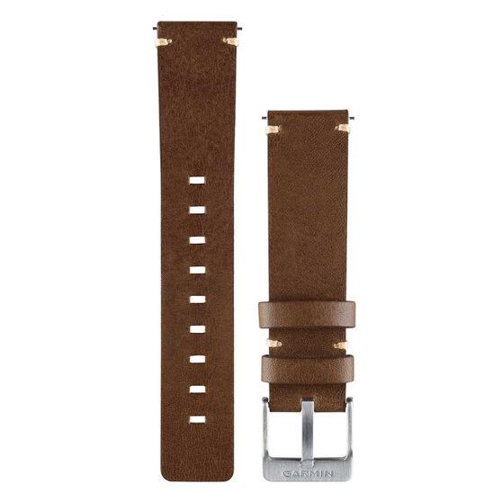 Garmin Quick Release 20mm Dark Leather Watch Band, , rebel_hi-res