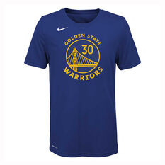 Nike Golden State Warriors Stephen Curry 2019/20 Kids Icon Tee Blue S, Blue, rebel_hi-res