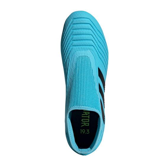 adidas Predator 19.3 Laceless Football Boots, Blue / Black, rebel_hi-res