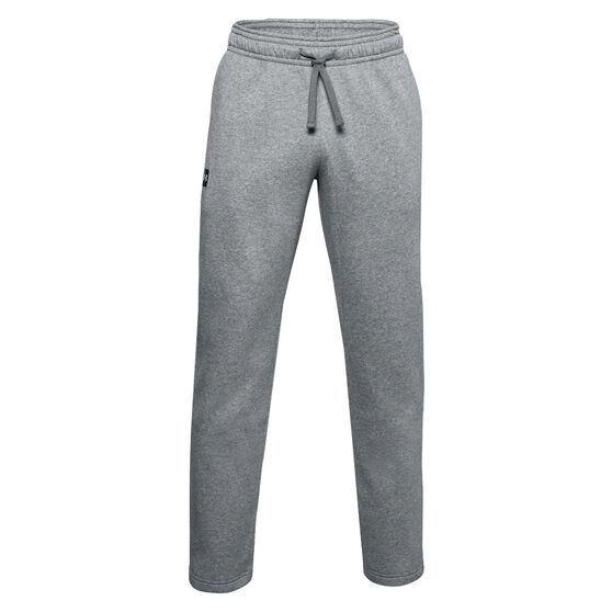 Under Armour Mens Rival Fleece Track Pants, Grey, rebel_hi-res