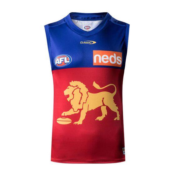 Brisbane Lions 2021 Mens Away Guernsey, Red, rebel_hi-res