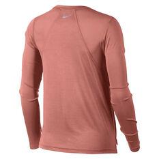 Nike Womens Miler Top Pink XS, Pink, rebel_hi-res