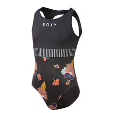 Roxy Girls Riding Time Swimsuit Black 8, Black, rebel_hi-res
