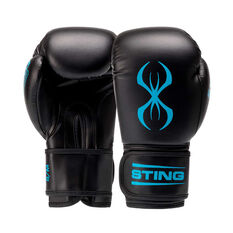 Sting Armafit Boxing Gloves Black / Teal S / M, Black / Teal, rebel_hi-res