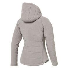Ell & Voo Womens Masey Quilted Jacket, Grey, rebel_hi-res