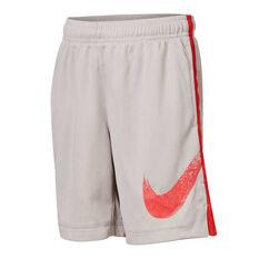 Nike Boys Dry Dominate Graphic Training Shorts Grey 5, Grey, rebel_hi-res