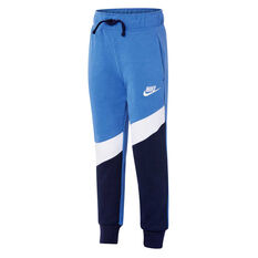 Nike Boys French Terry Knit Pants Blue / Navy 4, Blue / Navy, rebel_hi-res