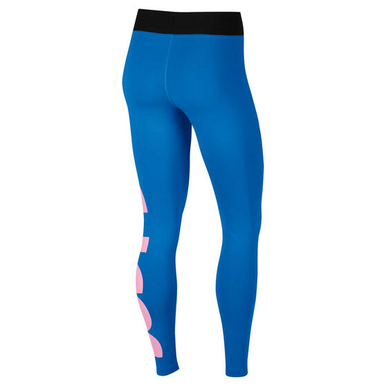 Nike Womens Leg A See Just Do It Tights, Blue, rebel_hi-res