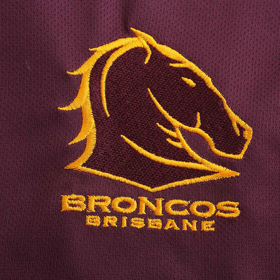 Brisbane Broncos 2020 Mens Gold Performance Polo, Gold, rebel_hi-res