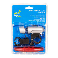 Repco Super Bright Bike Light Set, , rebel_hi-res