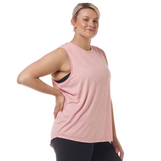 Ell & Voo Womens Sammie Muscle Tank, Pink, rebel_hi-res