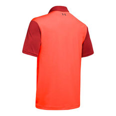 Under Armour Mens Playoff 2.0 Polo Red M, Red, rebel_hi-res